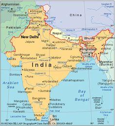 mapa india - de búsqueda