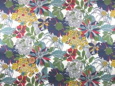 Liberty Tana Lawn Fabric, Liberty of London, Liberty Japan, Angelica Garla, Cotton Print Scrap, Floral Design, Quilt, Patchwork, JapanLovelyCrafts