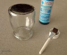 Strikeable Glass Match Bottle