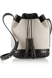 Wendy Nichol Pony Carriage mini lamb hair and leather bucket bag