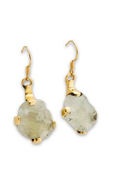 Splendid rough cut vermeil gold earrings from Swedish jewelry designer syster P.
