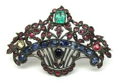 Austro Hungarian Basket Brooch Pin Emerald Sapphire Ruby Sterling Silver 1376 P in Jewelry & Watches, Vintage & Antique Jewelry, Fine, Art Nouveau/Art Deco 1895-1935, Pins, Brooches | eBay