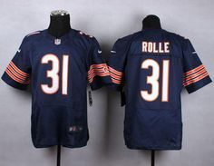 """$23.88 at """"MaryJersey""""(maryjerseyelway@gmail.com) Nike Bears 31 Antrel Rolle Navy Blue Team Color Men Stitched NFL Elite Jersey"""