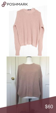 Brandy Melville pink Bronx sweater NWT Brandy Melville Sweaters Crew & Scoop Necks
