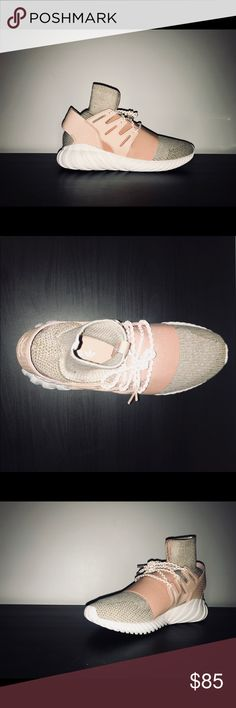 """Adidas Tubular Doom PK  """"St Pale Nude"""" Really nice, never worn pale nude. A nice futuristic take on he 90's running style.  Push the boundaries with these. adidas Shoes Sneakers"""