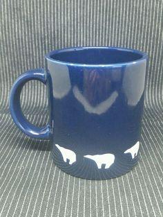 Waechtersbach Polar Bear Coffee Cup Mug Made In Spain Blue - lot i1i