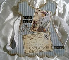 Chipboard Dress Album: Tattered Secrets!