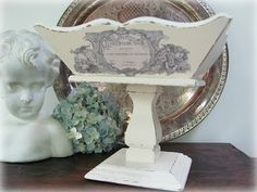 My Shabby Chateau: French Country Vintage Pedestal Bowl Redo