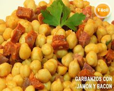 garbanzos fritos con jamon y chorizo al pimenton