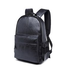 Vintage Patchwork Large Capacity Men Backpack Travel Casual faux Leather Travel Bag
