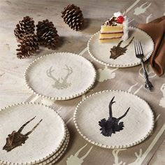 Kitchen & Home - National Cowboy Museum - Antler Dessert/Salad Plates