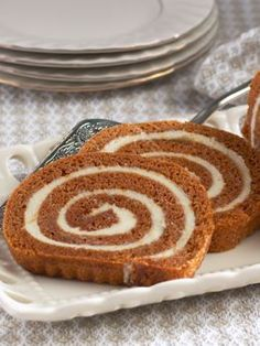 Our Pumpkin Cream Cheese Roll is perfect for fall dinner parties