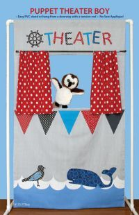 Puppet Theater Pattern - i like the idea for the banner under the open window... but want to make the doorway version of this project for sure