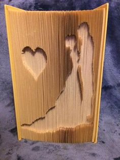 Cut and Fold Book Folding Pattern of Bride and Groom | Craftsuprint