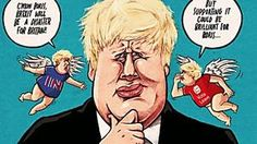 Ben Jennings won the prestigious 2017 Cartoon Art Trust Award for Caricature.Ben Jennings is an illustrator and cartoonist working just outside London who has produced work for a variety of clients worldwide. Political Satire, Political Cartoons, Trump Cartoons, Victory Parade, Special Needs Students, Fly On The Wall, Boris Johnson, Kindergarten Reading, Quotes For Kids