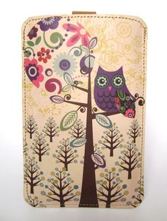 Owls, leather, cute for my iPod touch, even cuter when I one day get an iPhone... yes, please!
