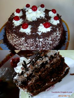 Tante Kiki: Τούρτα Black Forest με βύσσινο Cookbook Recipes, Cooking Recipes, Chocolate Sweets, Black Forest, Greek Recipes, Sweet Life, Biscotti, I Foods, Sweet Tooth