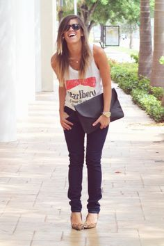 Denim, Muscle Tee, ombre hair