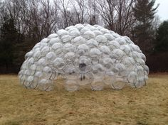 Ball Dome made from 250 clear spheres