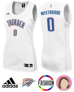 Honor your favorite NBA superstar in this Women s Adidas Oklahoma City  Thunder  0 Russell Westbrook 1b030e708