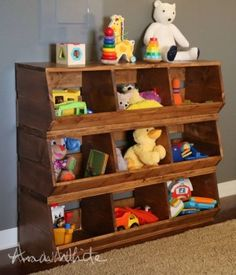 Organize Kidsu0027 Toys With This Easy To Build Toy Cubby Shelf, Inexpensively  Built Using Just One Sheet Of Plywood @Remodelaholic | Pinterest | Cubby  Shelves, ...