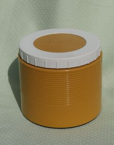 Vintage Soup Thermos Jar, Mustard Yellow, Retro Container for Food