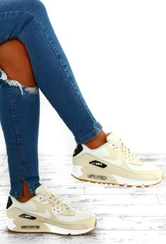 buy online 2dc0d bdc46 Nike Air Max 90 Cream Trainers – Pink Boutique UK