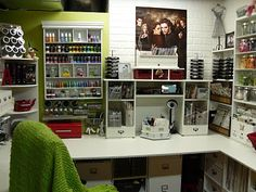 CRAFTY STORAGE: the best blog for studio spaces/organization of soooooooooo many studios