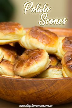 How to Make Scottish Potato Scones. Heavy, delicious scones that should be served hot with lashings of butter. The perfect comfort food when it is cold and miserable outside. Savoury Biscuits, Savory Scones, Savoury Baking, Savoury Dishes, Scottish Dishes, Scottish Recipes, Irish Recipes, Scottish Desserts, Potato Scones Recipe