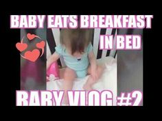 "Baby Vlog #2 Gabby eats breakfast in ""Crib""/ plays in bouncer/ watches M..."
