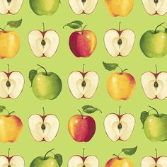 This is an apple fabric made by Red Rooster Fabrics. It is a 100% cotton fabric that is new and unwashed. There are various cuts available. I will make 1 continuous cut for the full amount purchased, and this fabric is off the bolt.  #509  SHIPPING  All domestic orders will receive a flat rate priority shipping of $5.99 for as much cotton fabric as is desired. For orders of 2 yards or less, fabric will ship first class and a refund will be issued for the overpayment of shipping…