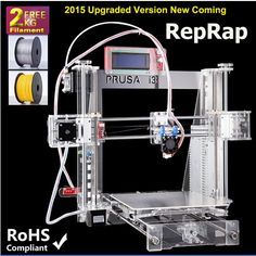 2015 Most Popular and Affordable Reprap I3 Printer 3D Printer China with Two Rolls Filament 8GB SD card  for Free //Price: $159.30//     #shopping