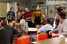 'The Big Bang Theory' guys boldly go out in 'Star Trek: TNG' costumes