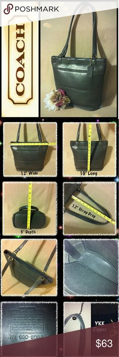 """🐘Vintage Coach Tribeca Bucket Gray Tote🐘 👜100% Authentic Coach Vintage Gray Leather Tribeca Bucket Tote Bag Handbag Purse G8C-9098. RETAILS $268 + TAX! Small/Medium in size measuring approx. 12"""" wide, 10"""" long, 5"""" depth, & 12"""" strap drop. In GOOD/FAIR condition w/some signs of use showing scuffs, creases, marks, dirt rubbing, & straps show normal wear from handling & age. ⏬Rest of Description Down Below⏬ Coach Bags Shoulder Bags"""