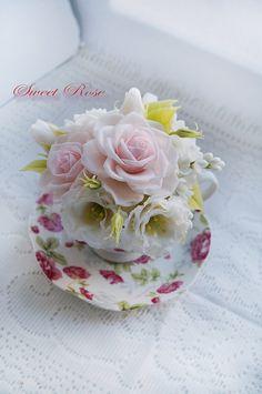 Bouquet Tenderness of feeling Cold porcelain Floral от SweetRose68