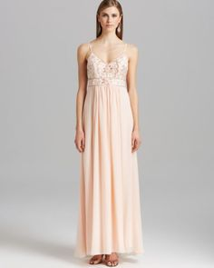 Sue Wong Gown - Chiffon Skirt   Bloomingdales's