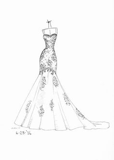 New fashion drawing clothes sketches wedding dresses ideas Illustration Mode, Fashion Illustration Sketches, Fashion Sketchbook, Fashion Sketches, Design Illustrations, Manga Tutorial, Wedding Dress Drawings, Fashion Design Drawings, Drawing Fashion