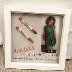 My First Day at School Frame perfect keepsake by Intheframewallart