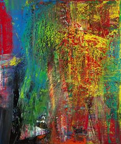 The title of Richter's abstract work 'AB, Courbet' can be understood as hommage to the French painter Gustave Courbet.
