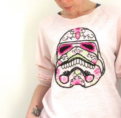 Freehand Embroidery - Candy Skull Storm Trooper