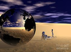 Dreaming Of Other Worlds Digital Art  - Dreaming Of Other Worlds Fine Art Print