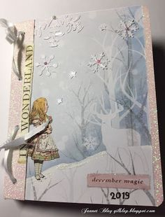 December Daily, Book Folding and Napkins Alice In Wonderland Crafts, World Crafts, Book Folding, December Daily, Used Books, Needlework, Napkins, Recycling, Card Making