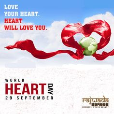 On this world heart day, Keep your heart healthy and happy With the gorgeous and glamorous look of Rajwada sarees.