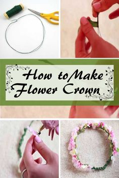 We all love these flower crowns that add beauty to our hair and face whenever we wear them. We always want to look like a gorgeous fairy or a beautiful princess especially our daughters. So here's a DIY flower crown to make as many as we like and whenever we like.