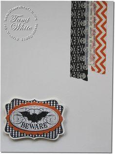 Stampin up Halloween Bash stamp set bat