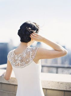 Beaded shoulder dress: http://www.stylemepretty.com/2014/11/05/elegant-nyc-engagement-session-bridal-portraits/ | Photography: Alicia Swedenborg - http://www.aliciaswedenborg.com/