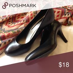 """Black pumps The most comfortable brand of heels I know of. A gorgeous, classic black pump with a flat satin finish. 3"""". ❣Make an offer!❣❌No Trades❌ Comfort Plus Shoes Heels"""