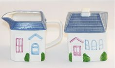Sugar and Cream Set Hearth and Home Designs 1988 by VintageTerrace