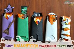 Easy Halloween Classroom Treat Idea - Candy Bar Costumes Craft