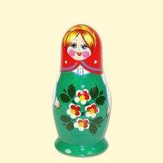 "SHOP-PARADISE.COM:  Matrjoschka ""Roter Tuch"" (M5), ca. 14 cm 22,61 €"